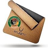 ATLEETY® Kork und Naturkautschuk Yogamatte - natürliche Gymnastikmatte - rutschfest, nachhaltig,...